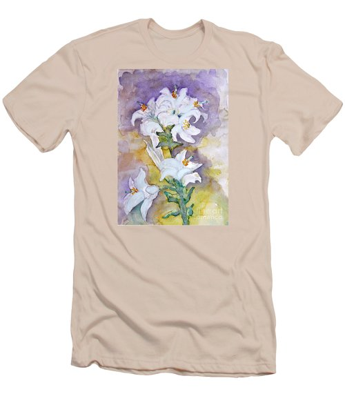 White Lilies Men's T-Shirt (Athletic Fit)