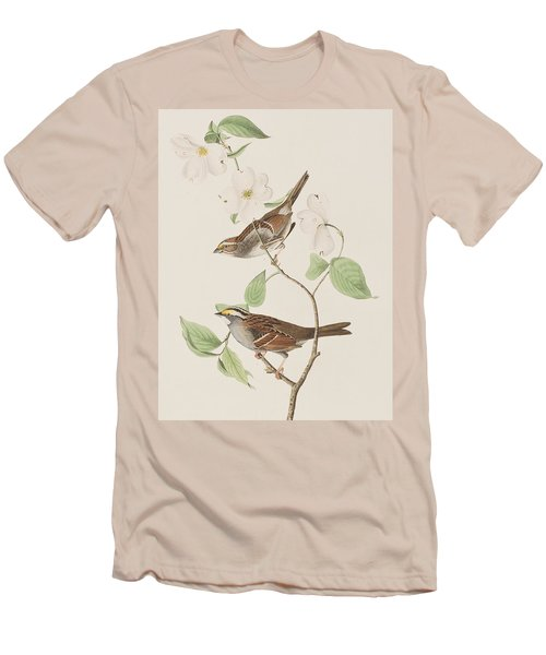 White Throated Sparrow Men's T-Shirt (Slim Fit) by John James Audubon
