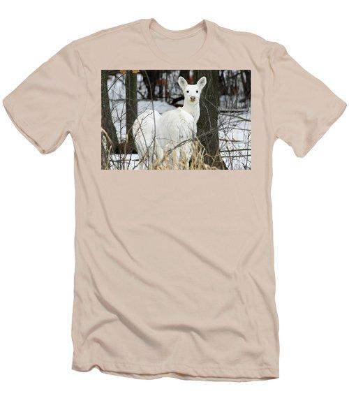 White Visitor Men's T-Shirt (Slim Fit) by Brook Burling