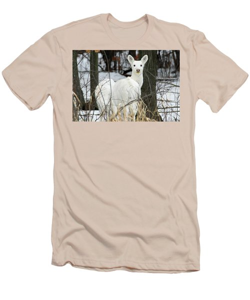 White Visitor Men's T-Shirt (Athletic Fit)
