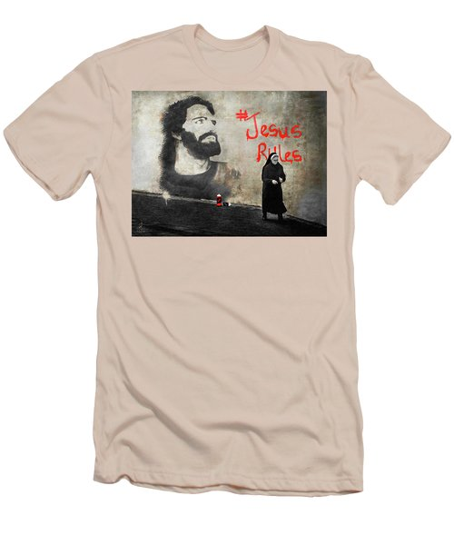 Men's T-Shirt (Slim Fit) featuring the photograph Who Knew by Pennie  McCracken