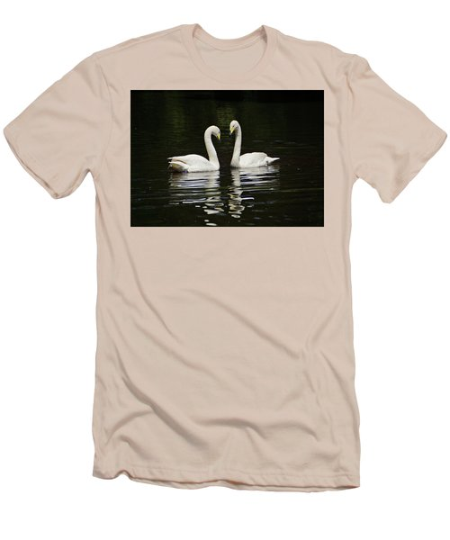 Men's T-Shirt (Slim Fit) featuring the photograph Whooper Swans by Sandy Keeton
