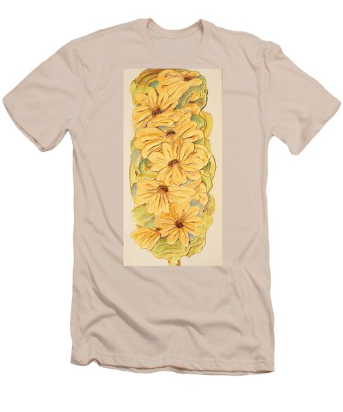 Wild Flower Abstract Men's T-Shirt (Slim Fit) by Theresa Marie Johnson