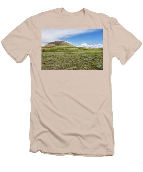 Men's T-Shirt (Athletic Fit) featuring the photograph Wild Flowers And Grasses At Yellowstone by John M Bailey