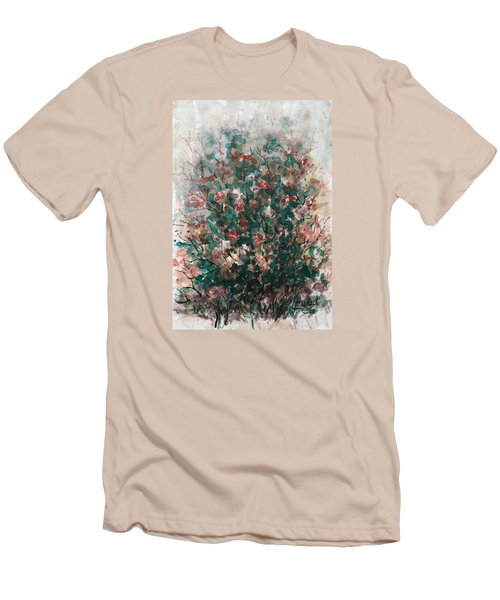 Men's T-Shirt (Slim Fit) featuring the painting Wild Flowers by Laila Awad Jamaleldin