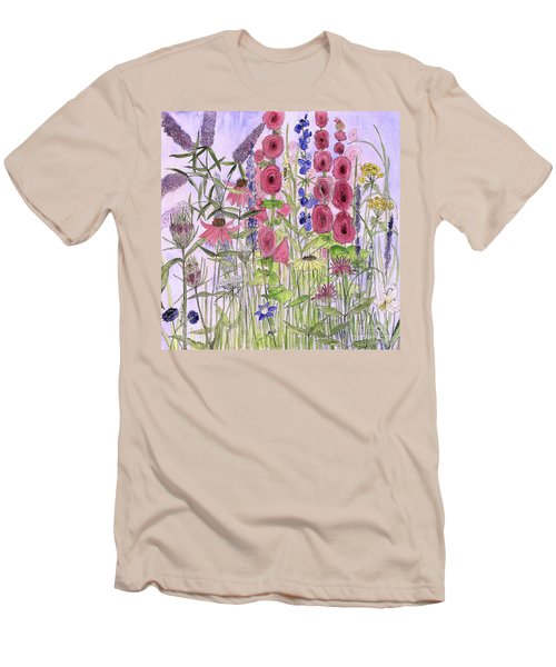 Wild Garden Flowers Men's T-Shirt (Athletic Fit)