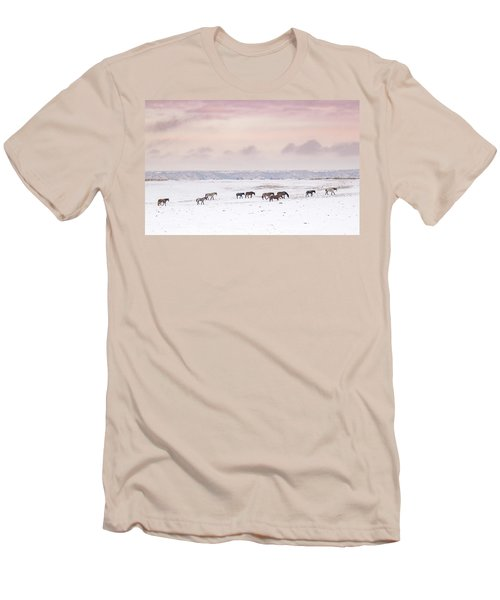 Wild Horses Out West Men's T-Shirt (Athletic Fit)