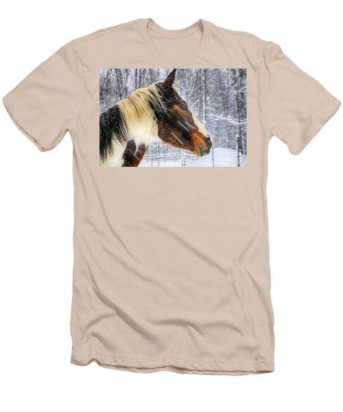 Wild Winter Storm Men's T-Shirt (Slim Fit) by Elizabeth Dow
