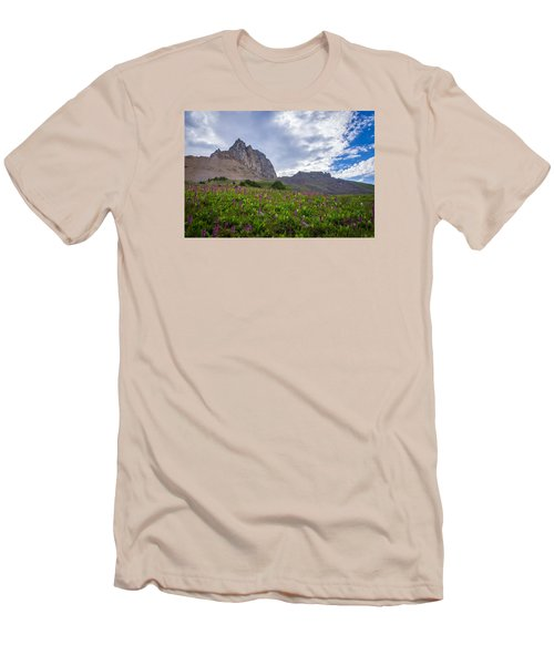 Wildflowers In The Grand Tetons Men's T-Shirt (Slim Fit) by Serge Skiba