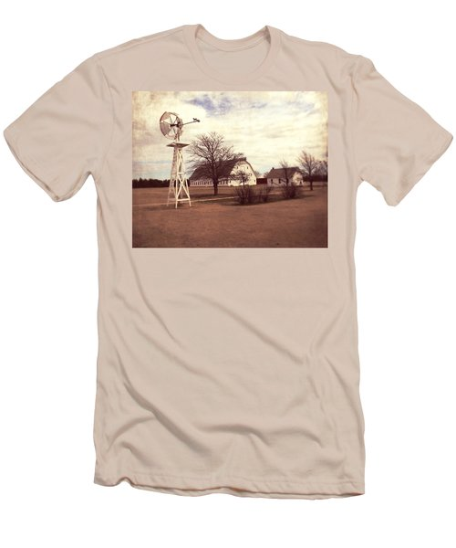 Windmill At Cooper Barn Men's T-Shirt (Slim Fit) by Julie Hamilton