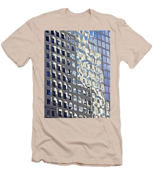 Men's T-Shirt (Slim Fit) featuring the photograph Windows Of 2 World Financial Center 2 by Sarah Loft