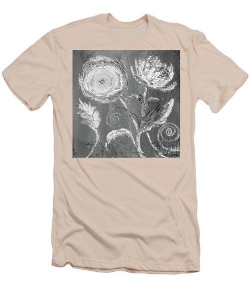 Men's T-Shirt (Athletic Fit) featuring the digital art Winter Bloom II by Robin Maria Pedrero