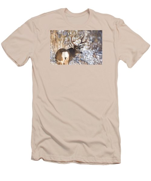 Winter Buck Men's T-Shirt (Athletic Fit)