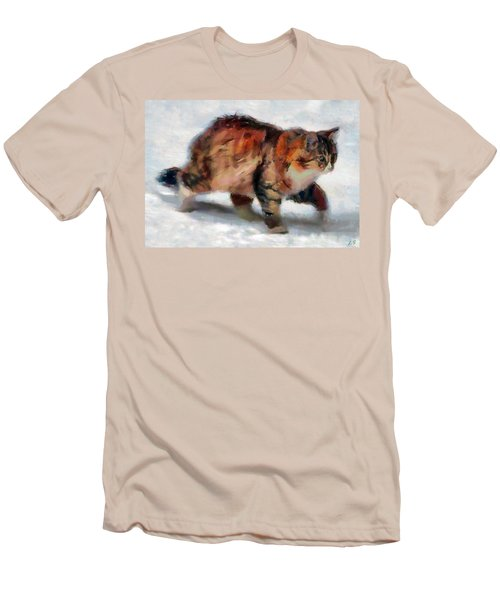 Winter Cat Men's T-Shirt (Athletic Fit)