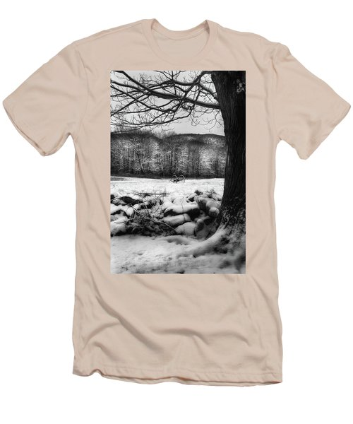 Men's T-Shirt (Slim Fit) featuring the photograph Winter Dreary by Bill Wakeley