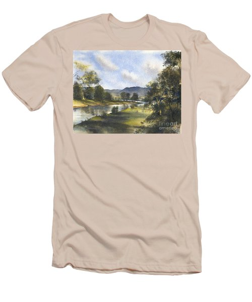 Winter In The Bellinger Valley Men's T-Shirt (Slim Fit) by Sandra Phryce-Jones