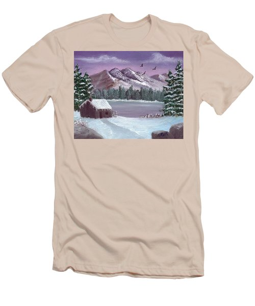 Winter In The Mountains Men's T-Shirt (Athletic Fit)