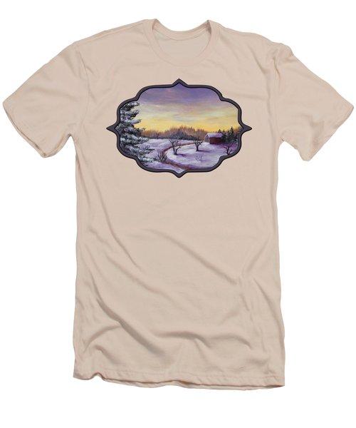 Winter In Vermont Men's T-Shirt (Slim Fit) by Anastasiya Malakhova
