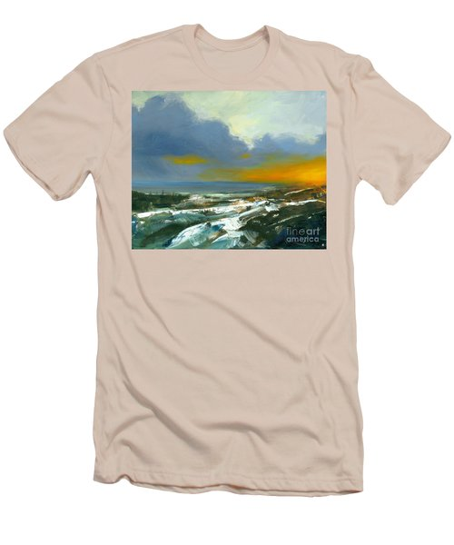 Winter Lake View Men's T-Shirt (Athletic Fit)
