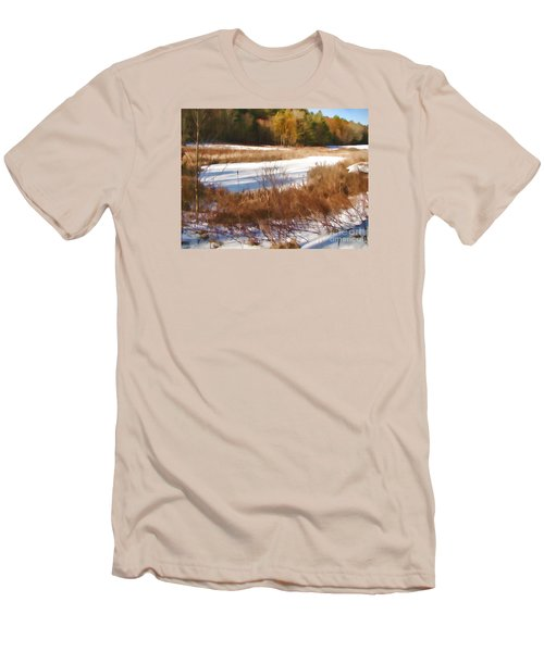 Men's T-Shirt (Slim Fit) featuring the photograph Winter Marsh by Betsy Zimmerli