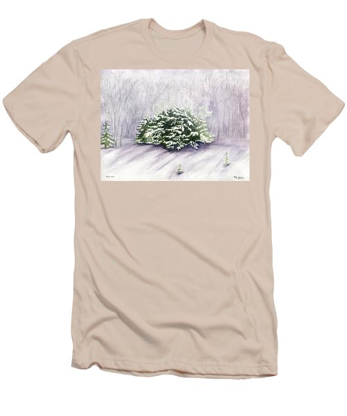 Men's T-Shirt (Slim Fit) featuring the painting Winter Wind by Melly Terpening