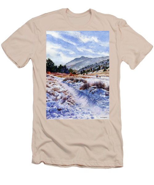 Men's T-Shirt (Slim Fit) featuring the painting Winter Wonderland by Anne Gifford