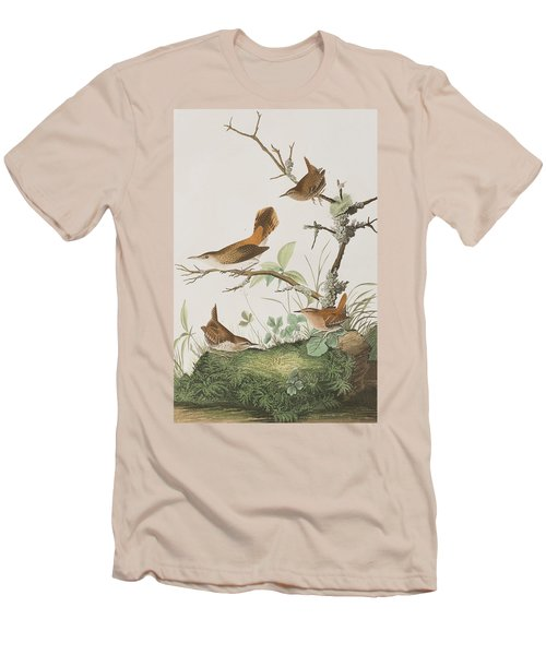 Winter Wren Or Rock Wren Men's T-Shirt (Athletic Fit)