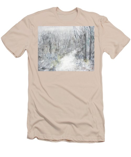 Men's T-Shirt (Athletic Fit) featuring the painting Winter's Day by Robin Maria Pedrero
