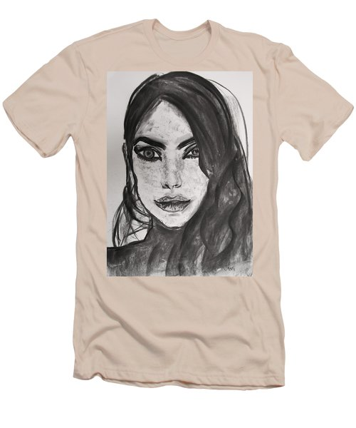 Men's T-Shirt (Slim Fit) featuring the painting Wintertime Sadness by Jarko Aka Lui Grande