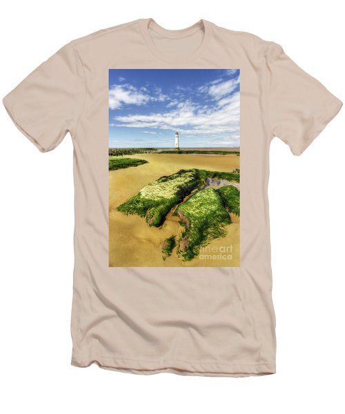 Men's T-Shirt (Slim Fit) featuring the photograph Wirral Lighthouse by Ian Mitchell
