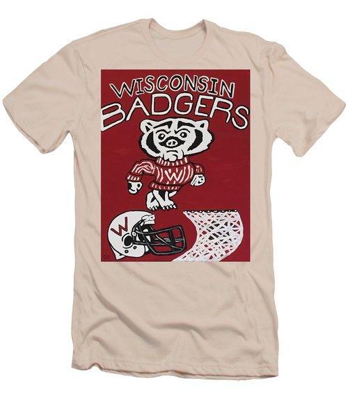 Wisconsin Badgers Men's T-Shirt (Slim Fit) by Jonathon Hansen