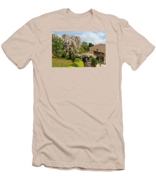 Men's T-Shirt (Slim Fit) featuring the photograph Wisteria by Richard Patmore
