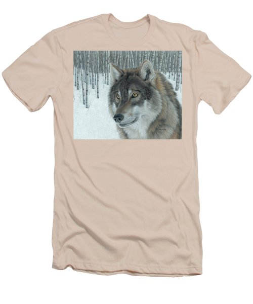 Wolf In Aspens Men's T-Shirt (Athletic Fit)