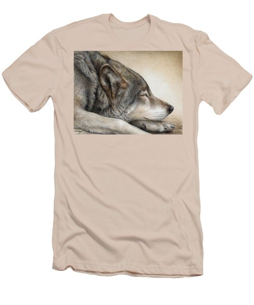 Wolf Nap Men's T-Shirt (Slim Fit) by Pat Erickson