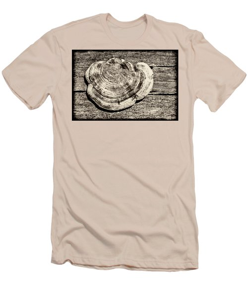 Men's T-Shirt (Athletic Fit) featuring the photograph Wood Decay Fungi, Nagzira, 2011 by Hitendra SINKAR