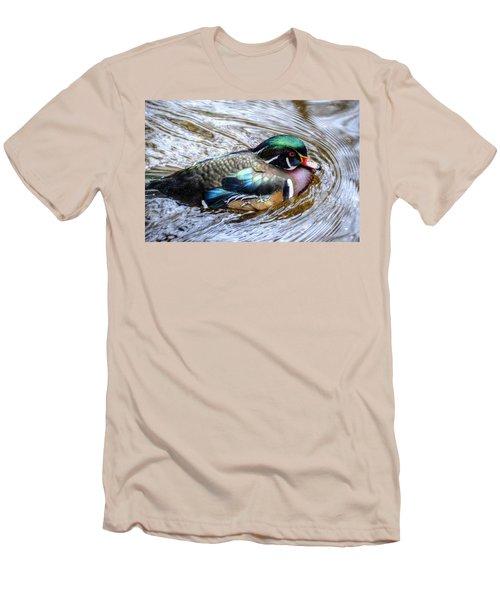 Woodduck Portrait Men's T-Shirt (Athletic Fit)