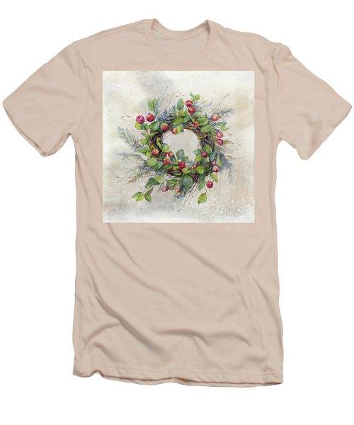 Woodland Berry Wreath Men's T-Shirt (Athletic Fit)