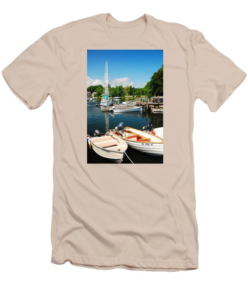 Woods Hole Harbor Men's T-Shirt (Slim Fit) by James Kirkikis