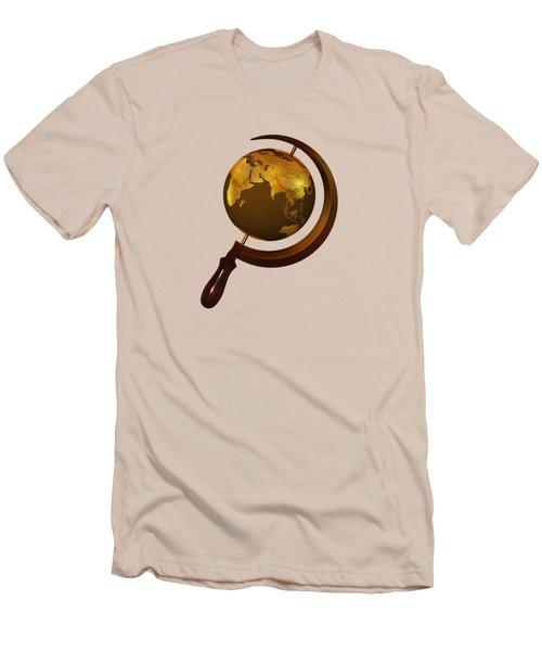 Workers Of The Globe Men's T-Shirt (Slim Fit) by Nicholas Ely