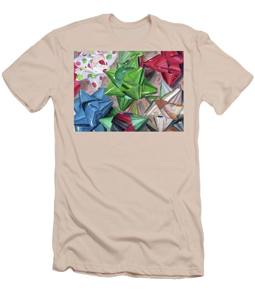 Men's T-Shirt (Slim Fit) featuring the painting Wrap It Up by Lynne Reichhart