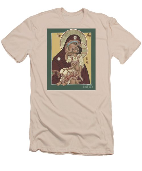 Men's T-Shirt (Slim Fit) featuring the painting Yakhrom Icon Of The Mother Of God 258 by William Hart McNichols