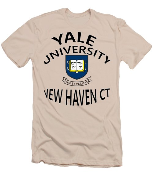 Yale University New Haven Connecticut  Men's T-Shirt (Slim Fit) by Movie Poster Prints