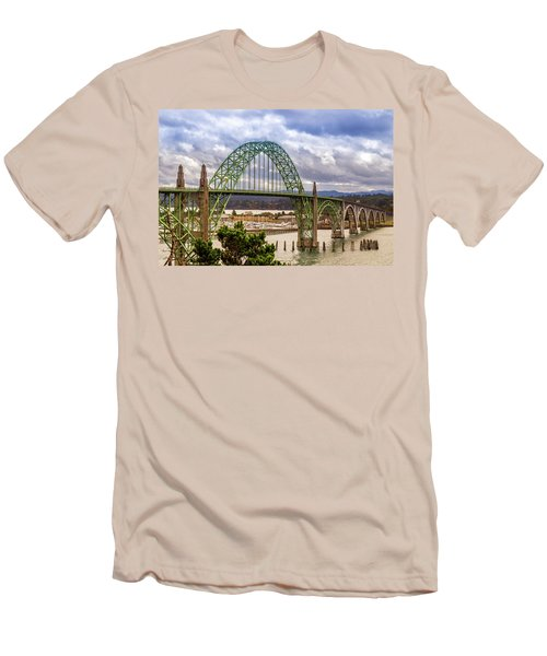 Men's T-Shirt (Athletic Fit) featuring the photograph Yaquina Bay Bridge by James Eddy