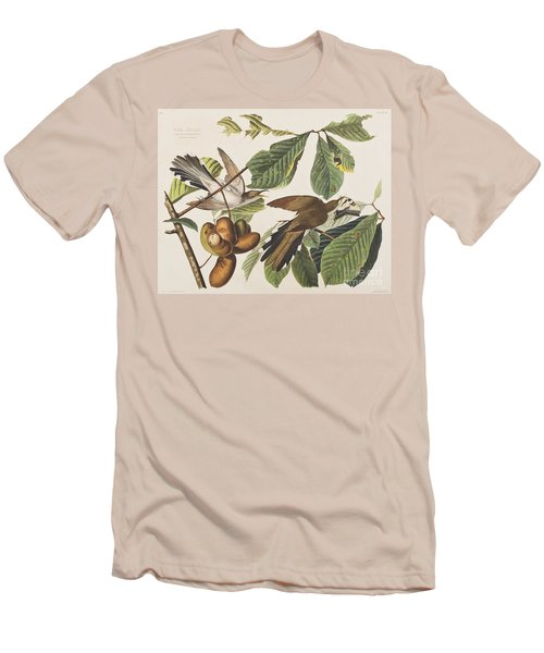 Yellow Billed Cuckoo Men's T-Shirt (Slim Fit) by John James Audubon