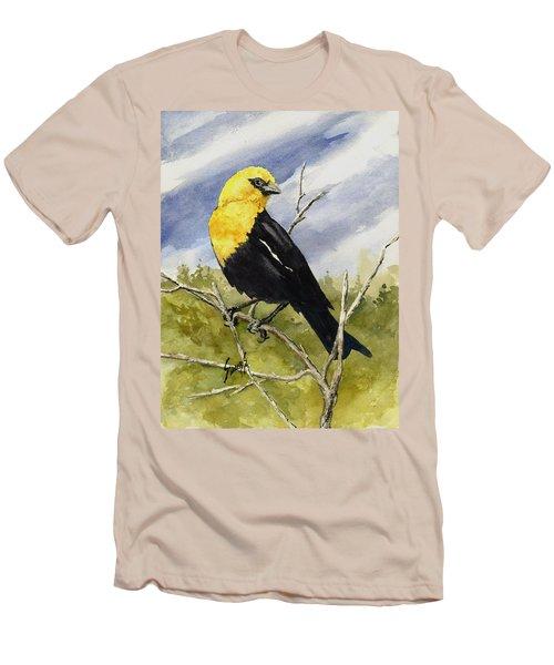 Yellow-headed Blackbird Men's T-Shirt (Slim Fit) by Sam Sidders