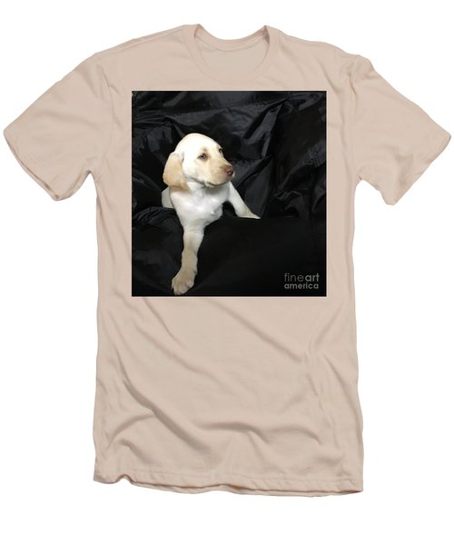 Yellow Lab Puppy Sadie Men's T-Shirt (Athletic Fit)