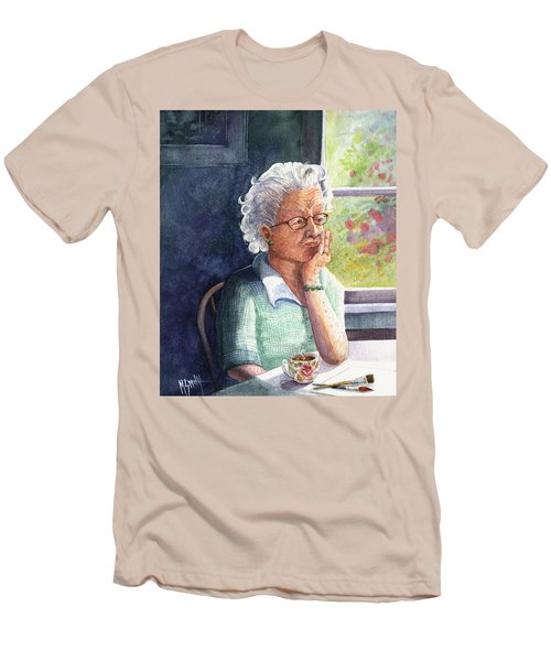 Men's T-Shirt (Slim Fit) featuring the painting Yesterday's Gone by Marilyn Smith