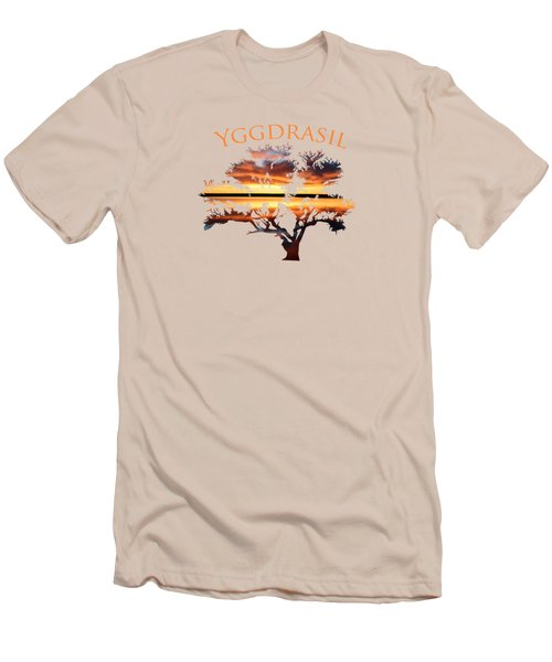 Yggdrasil- The World Tree 2 Men's T-Shirt (Athletic Fit)