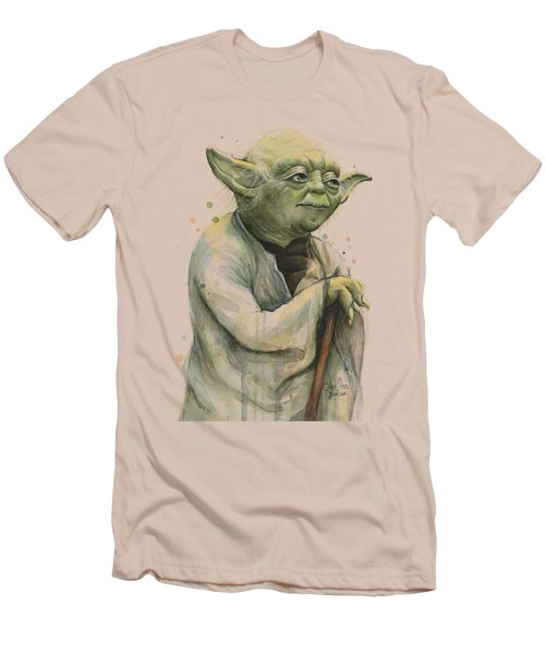 Yoda Portrait Men's T-Shirt (Slim Fit) by Olga Shvartsur
