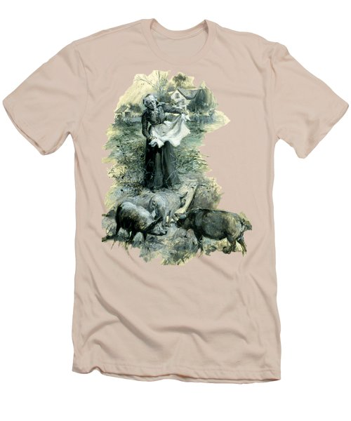 Men's T-Shirt (Athletic Fit) featuring the photograph Yohn Pigs  by Robert G Kernodle
